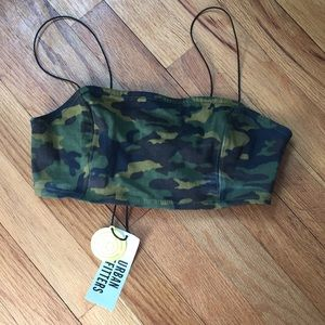 XS Urban Outfitters Camo Crop Top